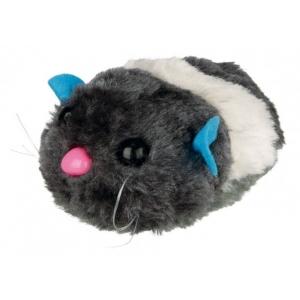 Trixie pluszowa, ruchoma myszka dla kota - 8cm