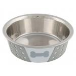 Trixie metalowa miska na gumie dla psa - 0,40L