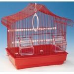 Klatka z wyposażeniem dla ptaków - 34,5x23,5x36cm