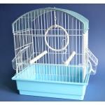 Klatka z wyposażeniem dla ptaków - 27,5x19,5x32