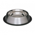 Metalowa miska na gumie dla psa - 0,45L