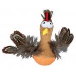 Trixie kurczak z piórami i dźwiękiem dla kota - 10 cm