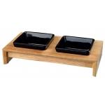 Trixie miski ceramiczne na stojaku - 2 x 0,20L