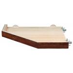 Trixie drewniana półka dla gryzoni - 17X17cm