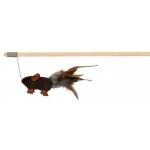 Trixie wędka z myszką i piórkami - 50cm