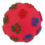 Piłka vinylowa, piszcząca zabawka dla psa - 12cm
